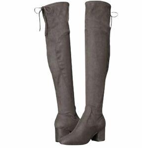 Ivanka Trump Size 6 Pelinda Over The Knee Heel Boots Gray Fabric