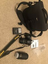 Nikon D3400 24.2 MP Digital SLR Camera - Black - w/ 70-300mm Lens And Camera Bag