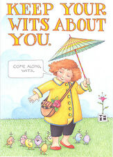 Mary Engelbreit-KEEP YOUR WITS ABOUT YOU-Blank Greeting Card w/Envelope-NEW!