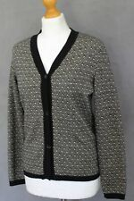 MAXMARA Ladies VIRGIN WOOL BLEND Pattern CARDIGAN Size Small S - MAX MARA