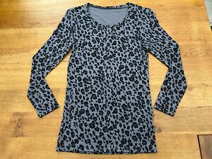 Ex-George @ Asda Grey/Black Animal Print Long Sleeved Thermal Top - BNWOT