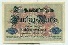 OLD GERMAN REICHSBANKNOTE 50 REICHSMARK 1914