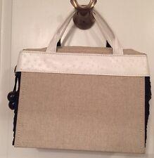 JACQUELINE KANGLEY women's handbag Designer Tote Faux Ostrich Silk Color Block