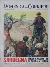 LA DOMENICA DEL CORRIERE 9 ottobre 1966 Banditismo in Sardegna Alto Adige TV di