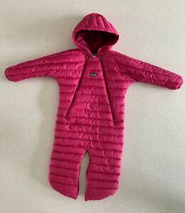 Patagonia baby snowsuit down bunting 12mo EUC