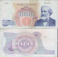1.000 LIRE VERDI 1° TIPO PRIMO DEC.10/08/1965 BB ++