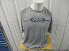 Vintage Usa Olympic Committee Team Usa 2012 Gray Xl Shirt New W/ Tags 100% Poly