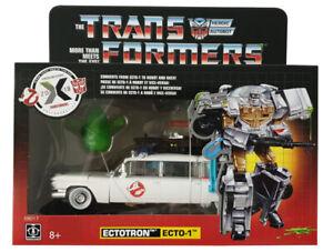 Hasbro Transformers E6017 Verwandelbares Ghostbusters-Auto Ecto-1 Ectotron Figur