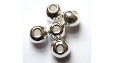 Céramique grecque argent 6mm Perles Rondes-Pack de 10