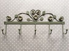 Vintage Style Hooks Rose & Leaf Vintage Wall Mounted Jewellery Scarf Holder