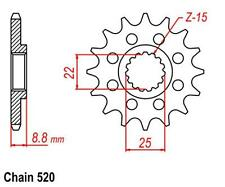 KR  Ritzel 15Z Teilung 520 Front Sprocket Beta RR 498 Enduro Factory  12