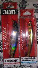 Lot of 2 Yo-Zuri Fishing Lure R1324-RGSN R1103-PSSH 90mm