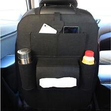 Car Seat Back Storage Bag Multi-Pocket Interior Organizer Holder Accessory Black