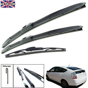 """Fits Toyota Prius 2003-2009 Hybrid Wiper Blades Set Of Front & Rear 26""""16""""16"""""""