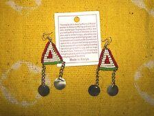 Hand Made African Maasai Earrings Masai Massai Fair Trade tribal boho jemd126