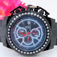 "1CT MEN'S RICHARD & CO DIA CHRONO ""BLACK AUTOMATIC/ D/D"" WATCH RC3021-MUST SELL"