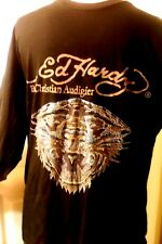 Ed Hardy Men's Black Long Sleeve Pullover Shirt, Tiger Logo,  Size XXL