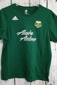 LZ Adidas Youth Medium Portland Timbers Alaska Airlines Short Sleeve Tee T-Shirt