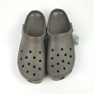 Crocs Mens Classic Chocolate Roomy Clogs Size Mens 17 Brown