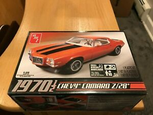 AMT 1970 Chevy Camaro Z/28 1:25 Scale Model Kit 635 Factory Sealed