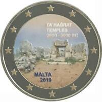 2 euro Malta 2019 UNESCO: Ta Hagrat colorata