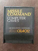 Missile Command CXL4012 Atari Game Cartidge FREE SHIPPING