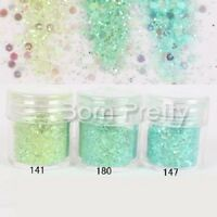 10ml Nagel Glitzer Puder Nail Art Sequins Glitter Powder 3D Dekoration 23410