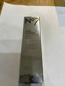 No7 Lift & Luminate Triple Action Serum Foundation Deeply Beige SPF15 30ml New