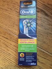 Braun Oral B Cross Action Replacement Tooth Brush Heads 5 Pack New & Sealed
