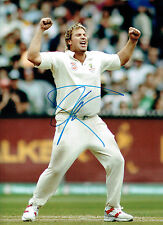 Shane WARNE Signed Autograph 16x12 Australia CRICKET Spin Bowler Photo AFTAL COA