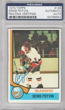 Denis Potvin New York Islanders 1974 Topps Signed AUTOGRAPH PSA DNA 83766952