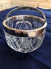 """Silverplate Hefra Warschau Polen klein geschnitten Glas Schüssel 3.75""""x4.5"""" Silverplate met"""