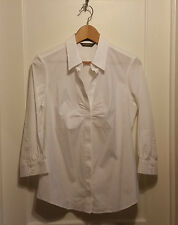 Eddie Bauer Stretch Wrinkle Resistant Shirt, White, Solid, Cotton, Size M, NWT
