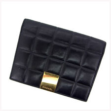 Auth CHANEL notebook cover chocolate bar / used Y390