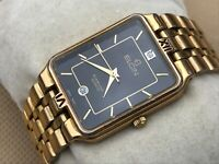 Elgin Diamond Quartz Watch Gold Tone Analog Wrist Date Calendar Japan movement