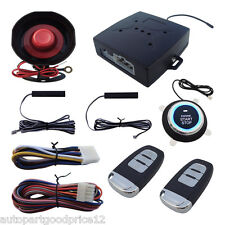 Car Truck Alarm System Pke Passive Keyless Entry Remote Auto Starter Push Button