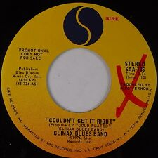 THE CLIMAX BLUES BAND: Couldn't Get it Right USA SIRE DJ PROMO 45 NM-