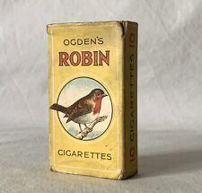 Vintage EMPTY OGDEN'S ROBIN 10's Cigarette Box Packet