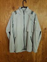 Men's Adidas Climaproof 3-Way Convertible Full Zip Rain Storm Jacket Large