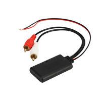 Car Universal Wireless Bluetooth Module Music Adapter Rca Aux Audio New  Black