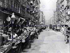 Mercado italiano barrio Calle Mulberry St NY viejo Bw Foto Impresión 1079BW