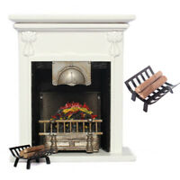 MINI Metal Rack with Firewood Model Toy Doll House Furniture Fireplace Accessory