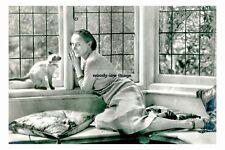 rp10587 - Russian Prima Ballerina , Anna Pavlova with her cat - photograph 6x4