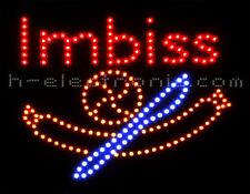 LED Reklame Imbiss Blinken Beleuchten Schild neon WOW Neon Animation Bratwürste