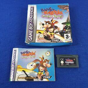 Gameboy Advance BANJO-KAZOOIE Grunty's Revenge *x BOXED & Manual GBA Region Free