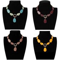 Fashion Women Pendant Acrylic Choker Chunky Statement Chain Bib Necklace Jewelry