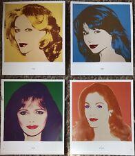 4 X Andy Warhol Ladies Portraits. Mini Posters 29cm X 24cm Set2 R197/237/241/279