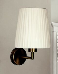Wall Light Classic Metal Burnished And Lampshade