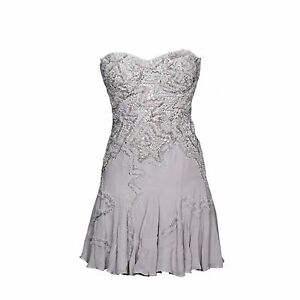 LisaHoLavender Purple Embellished Corset Strapless Dress size 12