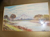 ANTIQUE WATERCOLOUR PAINTING BY ABRAHAM HULK JUNIOR LANDSCAPE PASTORAL SIGNED
